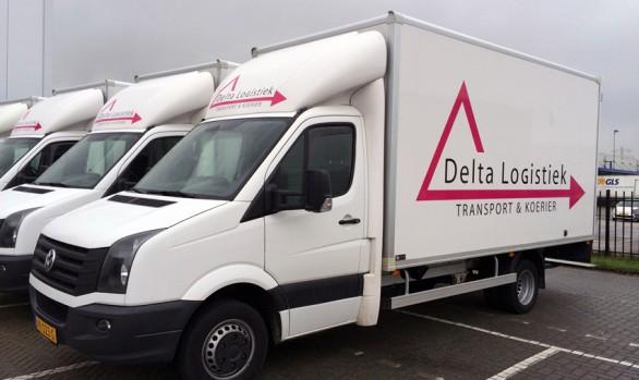 Autobelettering Delta Logistiek