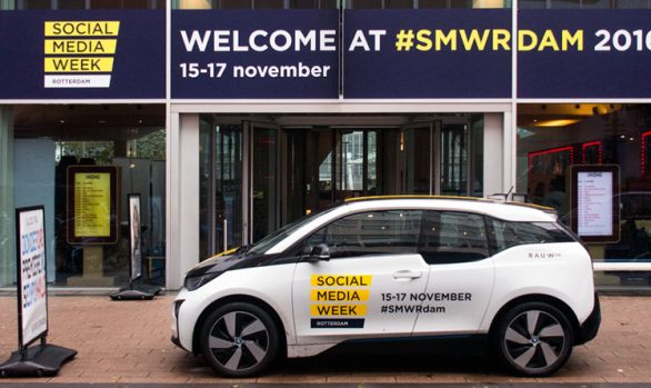 SocialMediaWeek Rotterdam raambelettering