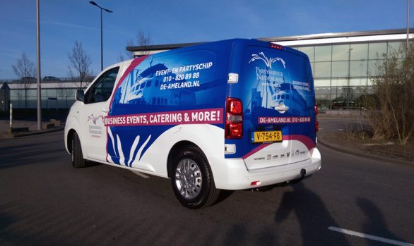 Partyservice Nederland autobelettering