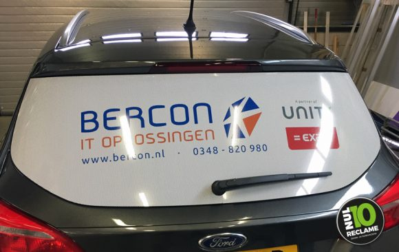 Bercon IT autobelettering Ford Focus onewayvision