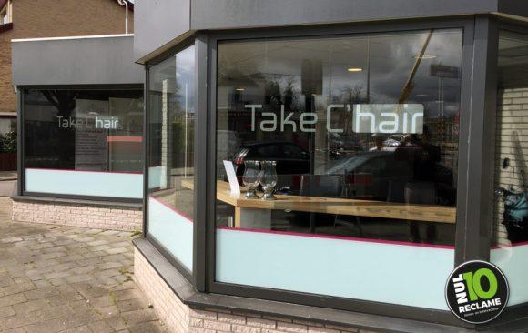 TakeChair Zoetermeer raambelettering