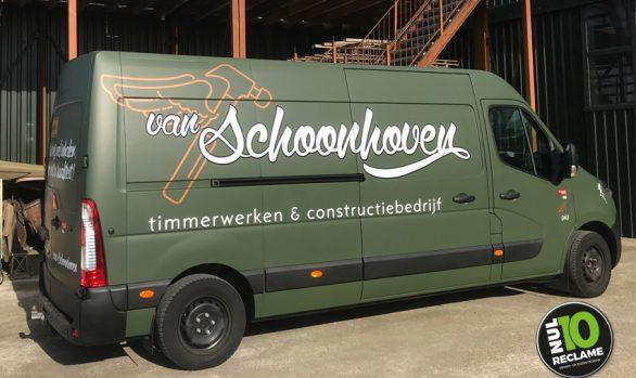 van Schoonhoven TC carwrap matgroen + belettering