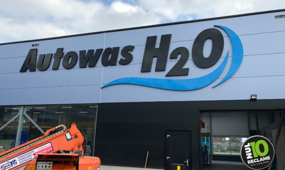 Autowas H2O Zoetermeer onverlichte doosletters