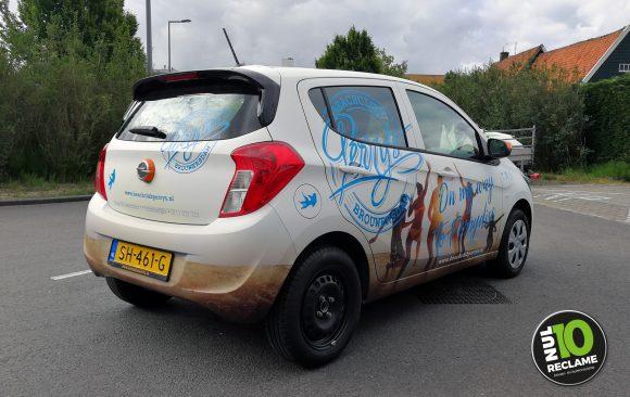 Beachclub Perry's carwrap / autobelettering Opel Karl