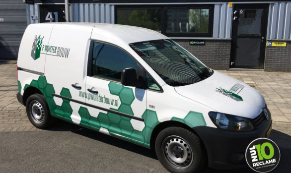 P Wuister Bouw autobelettering VW Caddy