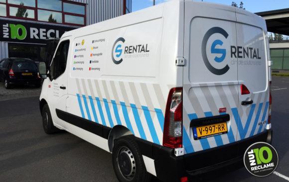 CS Rental Chaam autobelettering Renault Master